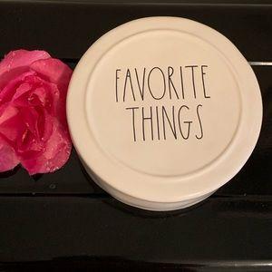 Rae Dunn Favorite Things Round Ceramic Jewelry Box